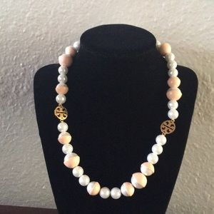 Tory Burch Pink pearl necklace